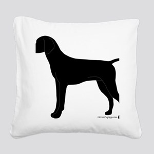 GSPBlack Square Canvas Pillow