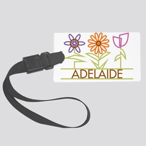 ADELAIDE-cute-flowers Large Luggage Tag