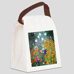 iPad Klimt Flowers Canvas Lunch Bag