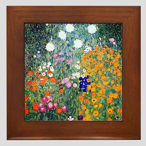 iPad Klimt Flowers Framed Tile