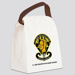 SSI-USAPTGoldenKnights-txt Canvas Lunch Bag