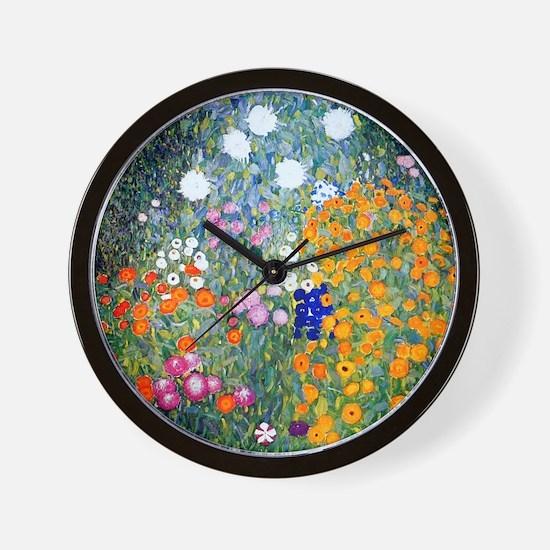 iPad Klimt Flowers Wall Clock