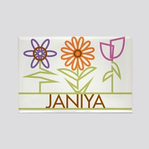 JANIYA-cute-flowers Rectangle Magnet