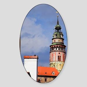 Cesky Krumlov. View of the Chateau  Sticker (Oval)