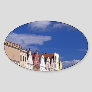 Telc 16th C. Renaissance houses; Na Sticker (Oval)