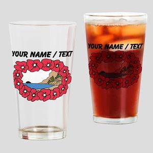 Custom Hawaiian Lei Drinking Glass