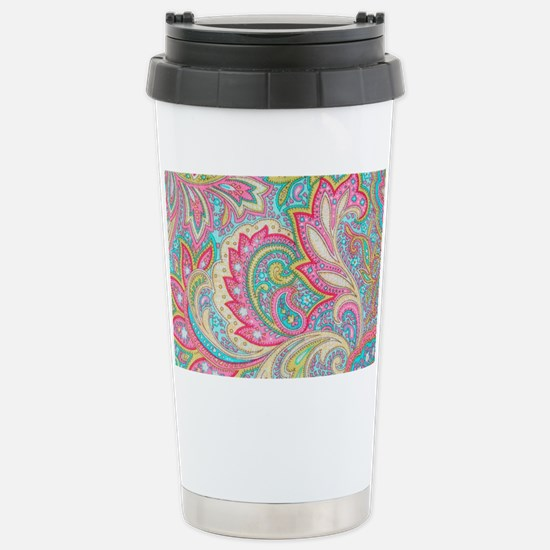 Toiletry Pink Paisley Stainless Steel Travel Mug