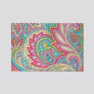 Toiletry Pink Paisley Rectangle Magnet