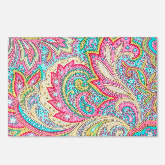 Toiletry Pink Paisley Postcards (Package of 8)