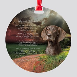 godmadedogs(button) Round Ornament