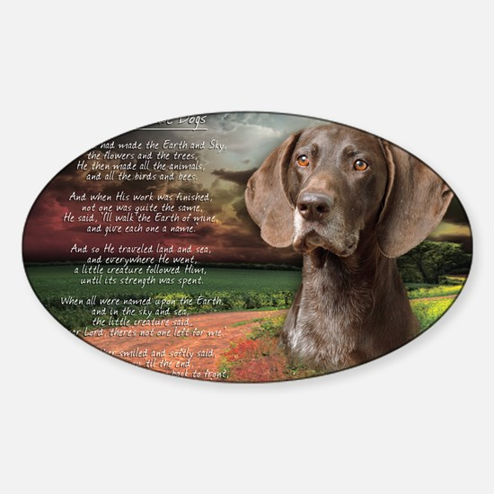 godmadedogs(laptop) Sticker (Oval)