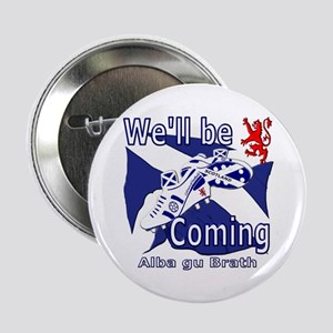 """Scotland football well be coming 2.25"""" Button"""