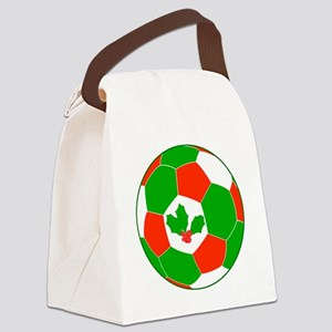 Soccer Christmas Decoration Canvas Lunch Bag