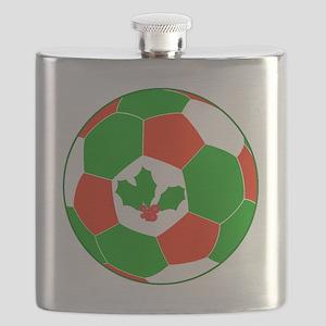 Soccer Christmas Decoration Flask