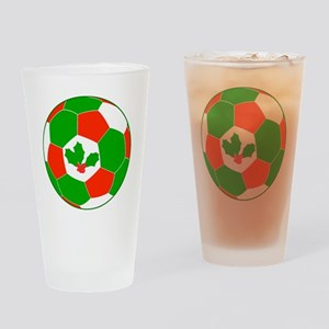 Soccer Christmas Decoration Drinking Glass