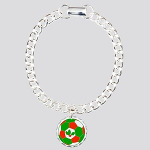 Soccer Christmas Decorat Charm Bracelet, One Charm