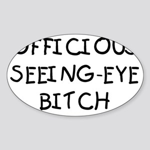 OFFICIOUS Sticker (Oval)