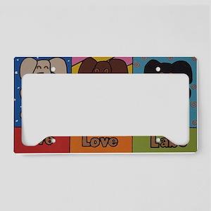 live love labs adjusted License Plate Holder