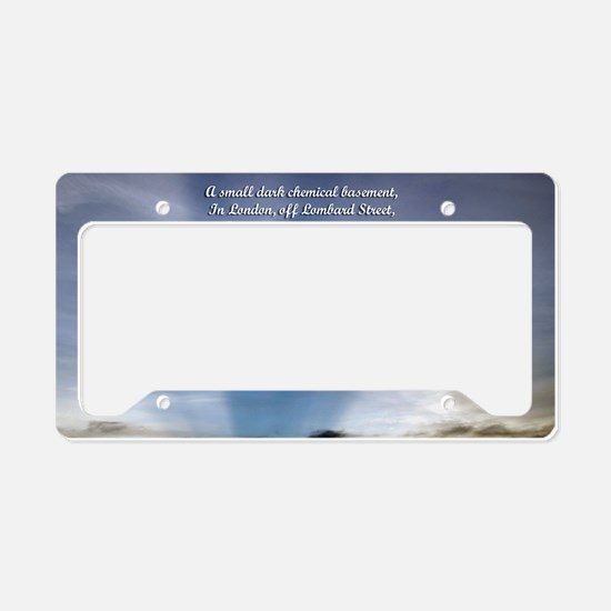 CAL2_1clouds_ 0011 License Plate Holder