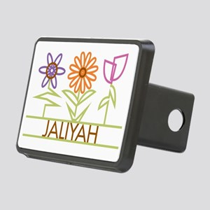 JALIYAH-cute-flowers Rectangular Hitch Cover
