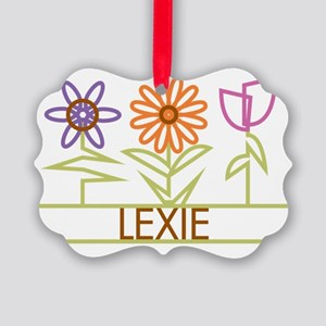 LEXIE-cute-flowers Picture Ornament