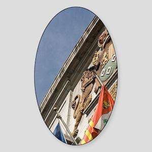 Hotel de Ville (City Hall), Brussel Sticker (Oval)
