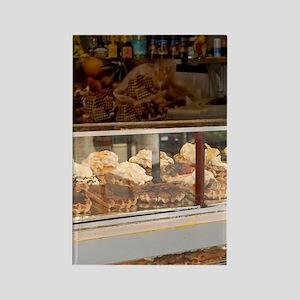 Belgium, Brussels, dessert shop. Rectangle Magnet