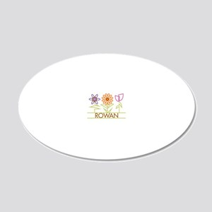 ROWAN-cute-flowers 20x12 Oval Wall Decal