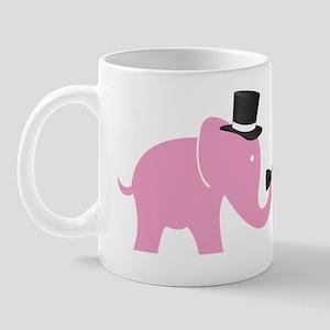 final pink elephnat trunkup groom Mug