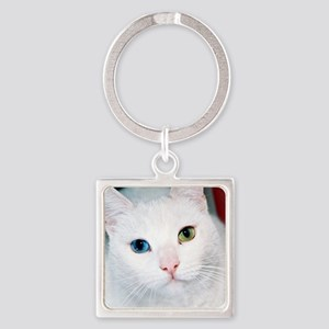 cat 1 Square Keychain