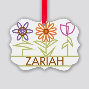 ZARIAH-cute-flowers Picture Ornament