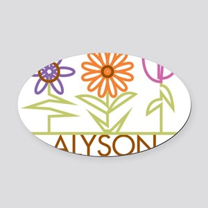ALYSON-cute-flowers Oval Car Magnet