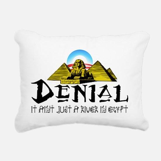 president obama denial a Rectangular Canvas Pillow