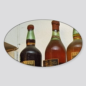 Old bottles of Banyuls 1944, 1934,  Sticker (Oval)