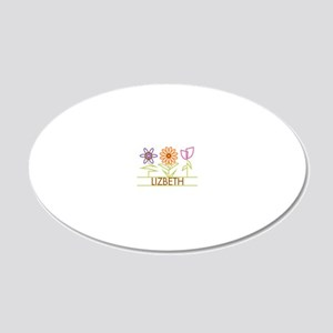 LIZBETH-cute-flowers 20x12 Oval Wall Decal