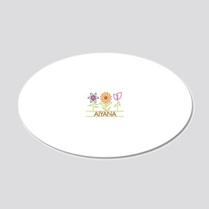 AIYANA-cute-flowers 20x12 Oval Wall Decal