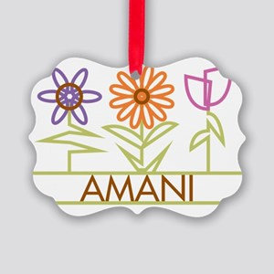 AMANI-cute-flowers Picture Ornament