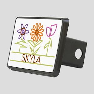 SKYLA-cute-flowers Rectangular Hitch Cover