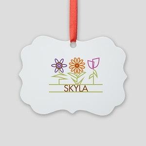 SKYLA-cute-flowers Picture Ornament