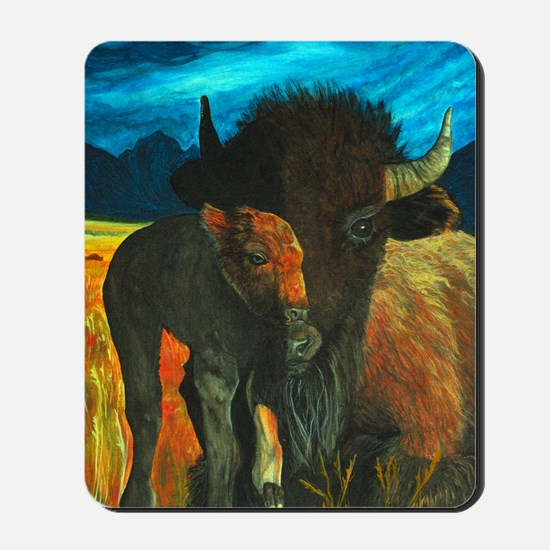 buffalo with babe2-journal Mousepad