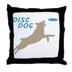 Disc Dog (3) Throw Pillow