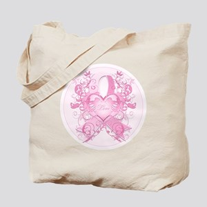 PinkRibLoveSwirlRpTR Tote Bag