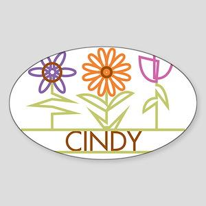CINDY-cute-flowers Sticker (Oval)