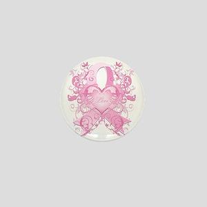 PinkRibLoveSwirlTRs Mini Button