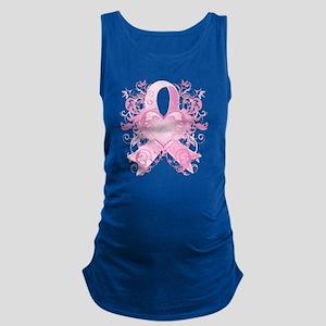 PinkRibLoveSwirlTRs Maternity Tank Top