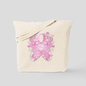 PinkRibLoveSwirlTRs Tote Bag