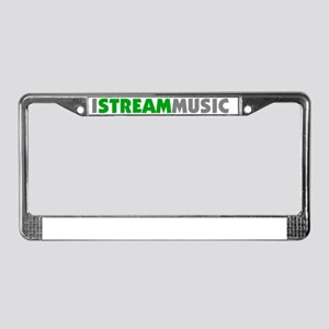 IStreamMusicTextBumpersticker License Plate Frame