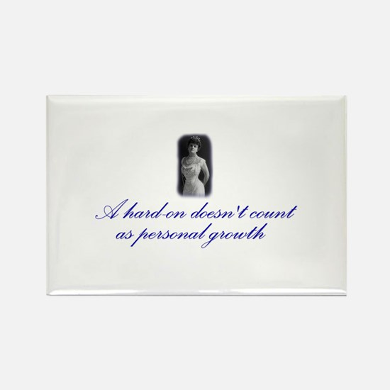 Hard-on not Personal Growth Rectangle Magnet