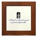 Hard-on not Personal Growth Framed Tile