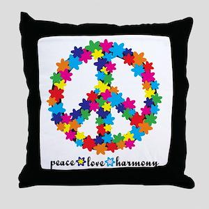 FlowerPeace Throw Pillow